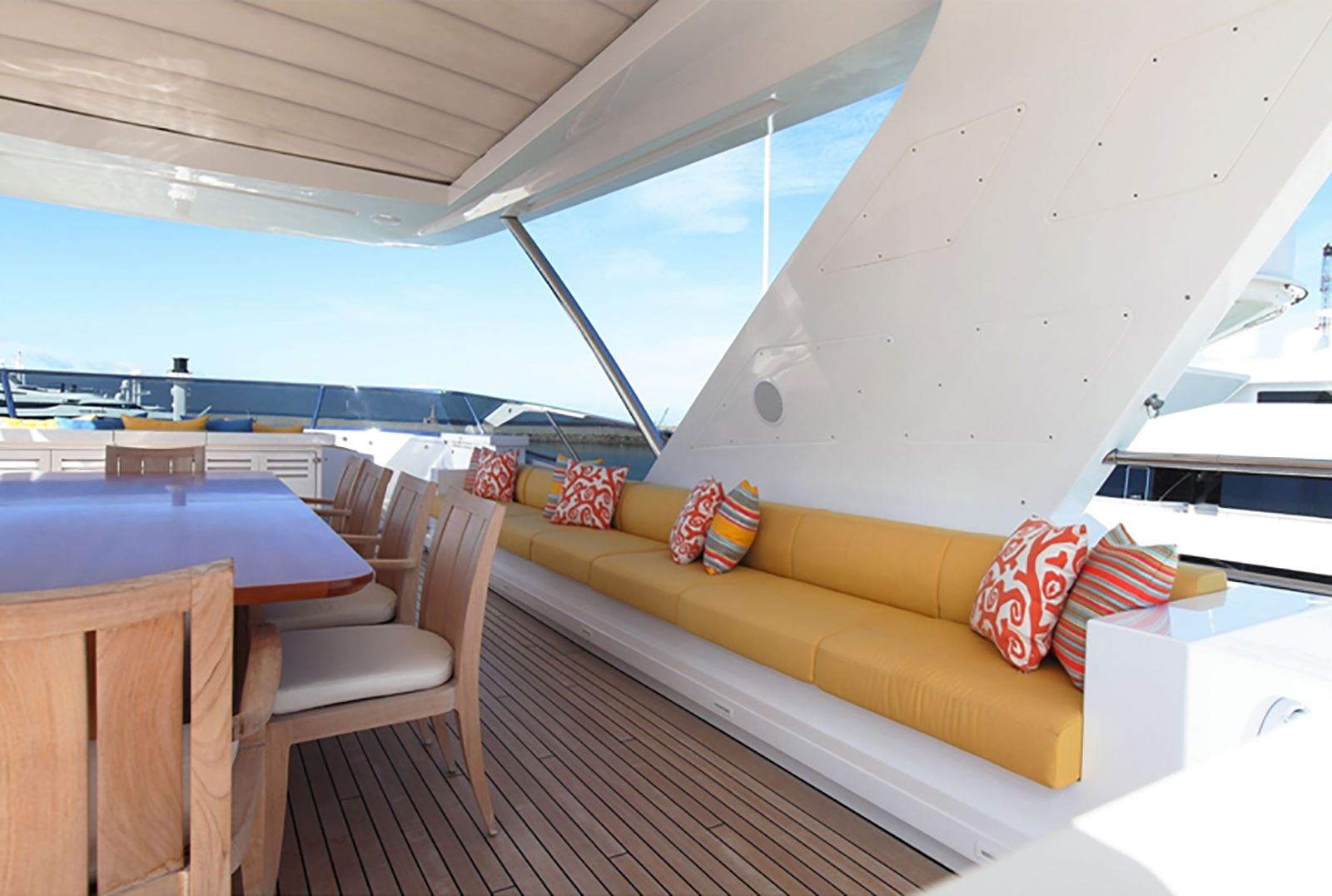Sun Deck Al Fresco Dining Area And Seating Area ZAZOU
