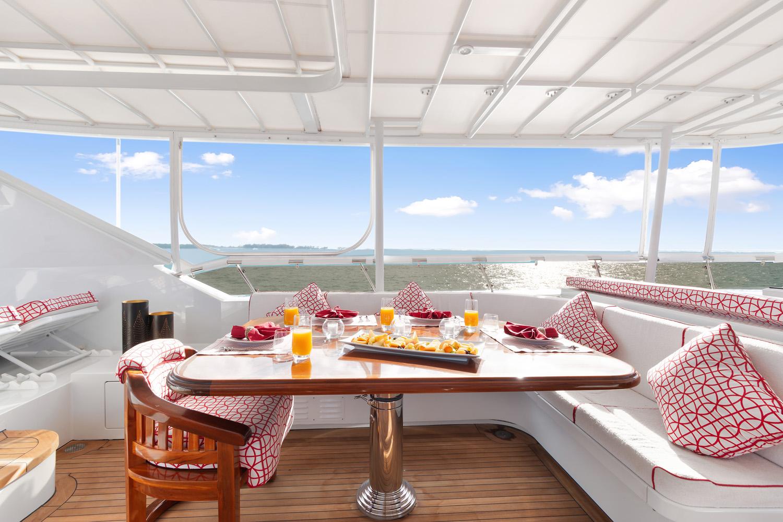 Sun Deck Breakfast Set Up