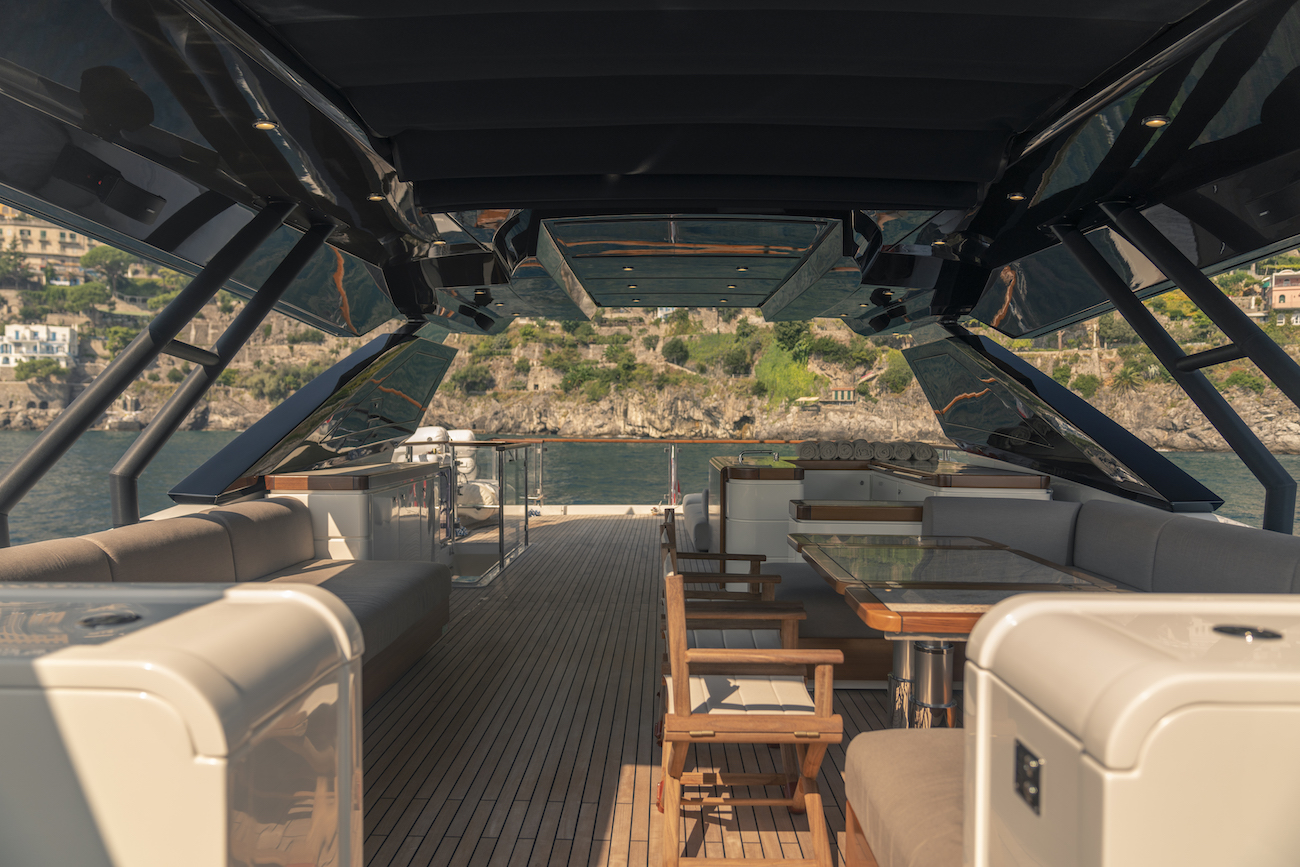 Sun Deck With Bar And Seating Area