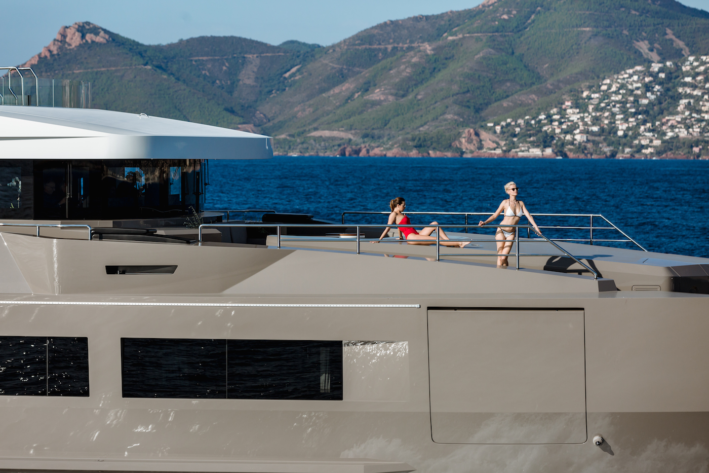 Superyacht Detail With Models Lifestyle