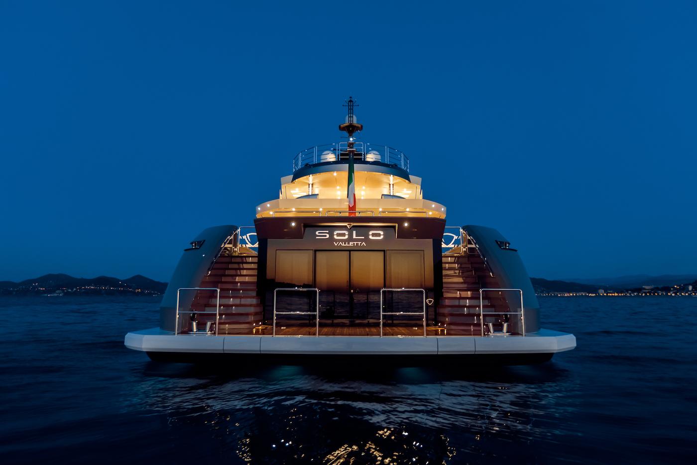 Swim Platform Transom At Night