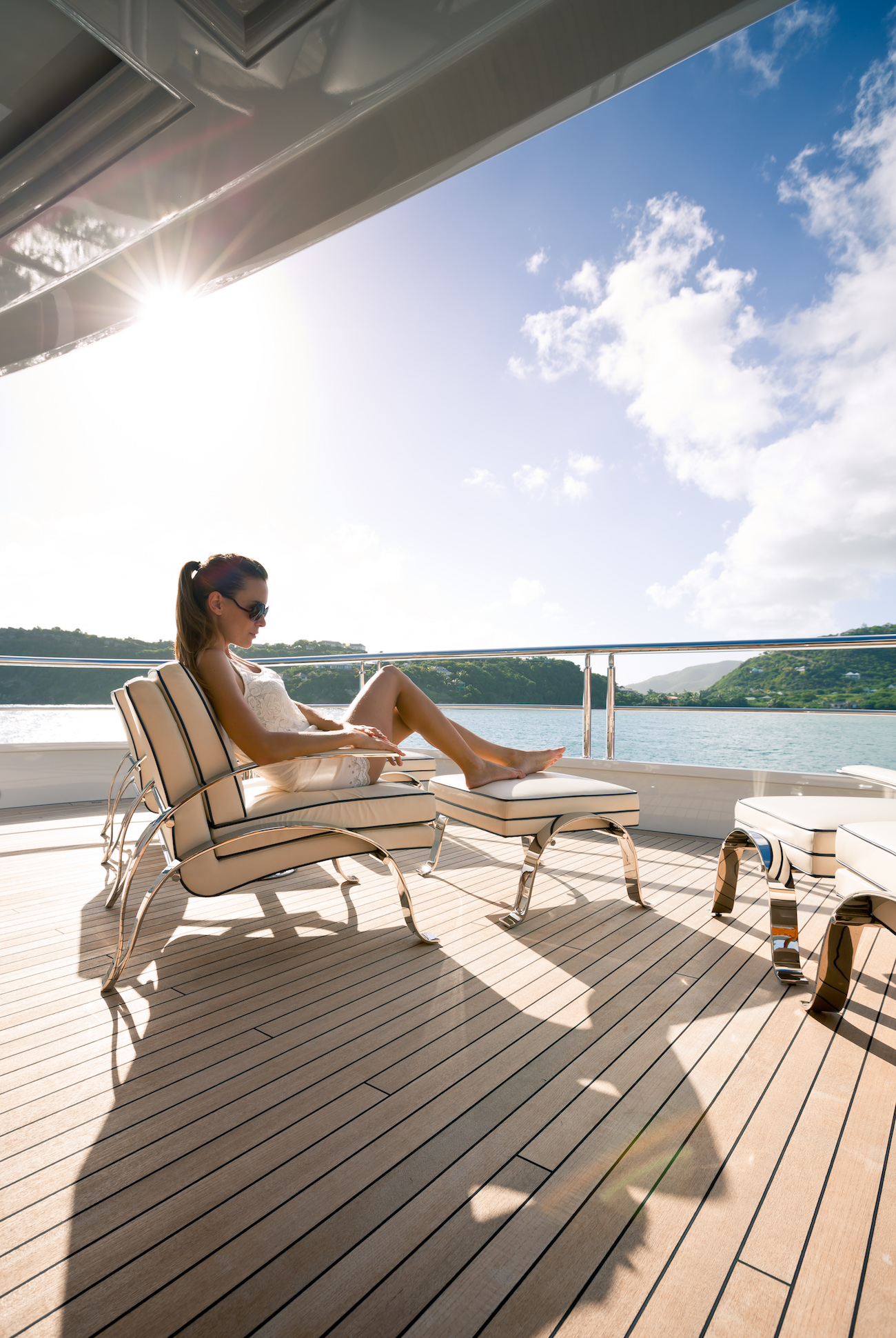 Taking In The Sun On The Aft Deck