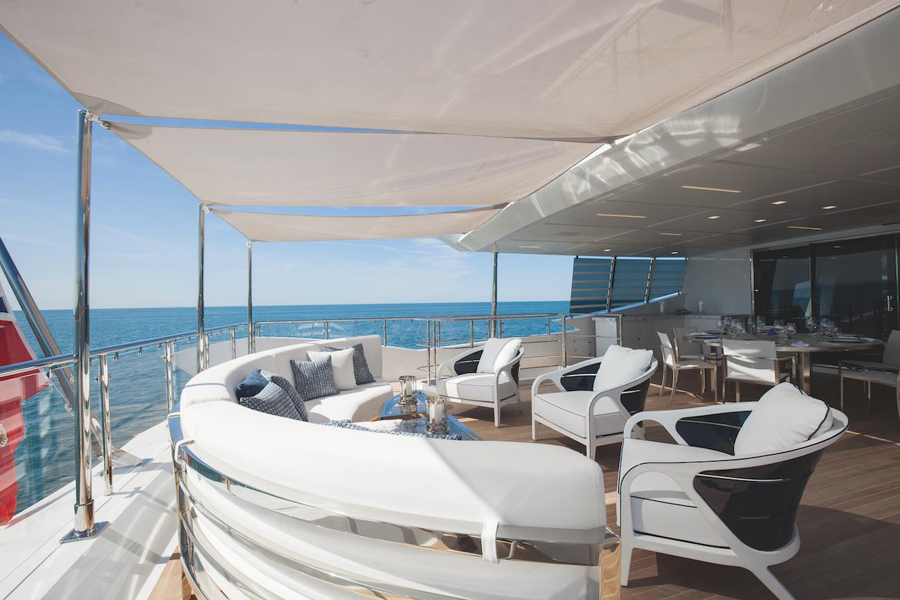 Upper Deck Aft With Alfresco Dining And Louning Area