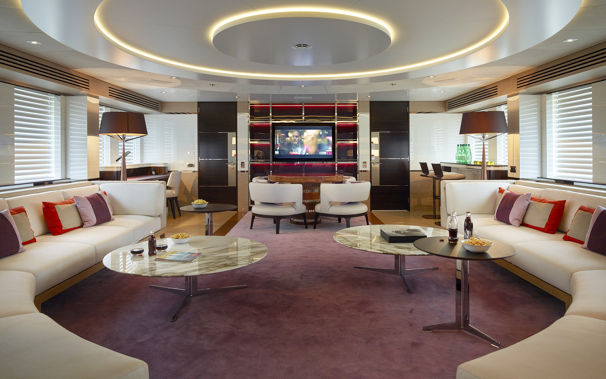 Upper Deck Saloon With A TV