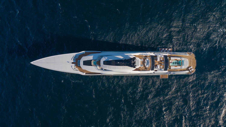 Yacht Aerial Shot