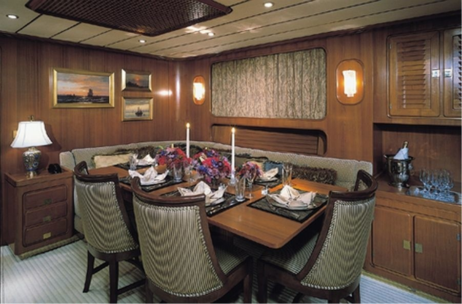 Eating/dining Aboard Yacht GITANA