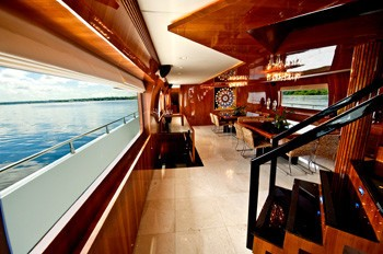 Window View: Yacht ZENITH's Saloon Pictured
