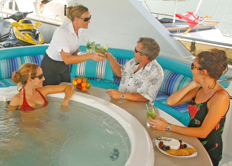 Life: Yacht ATLANTICA's Jacuzzi Pool Photograph