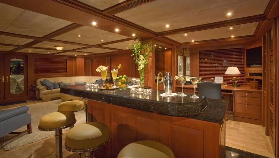 Saloon Lounging Aboard Yacht ATLANTICA