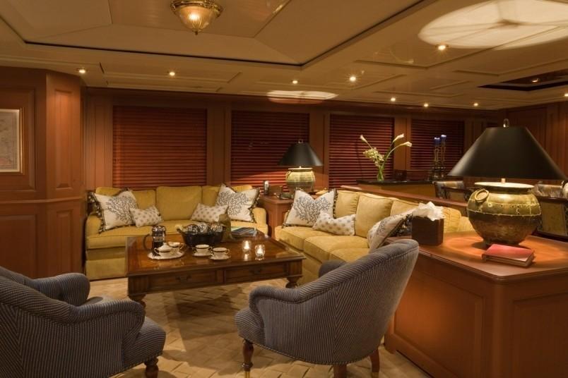 Portside: Yacht ATLANTICA's Saloon Photograph