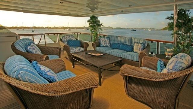 Top Aft Deck On Board Yacht ATLANTICA