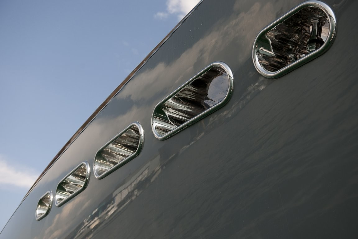 Profile Close Up On Yacht OCEAN EMERALD