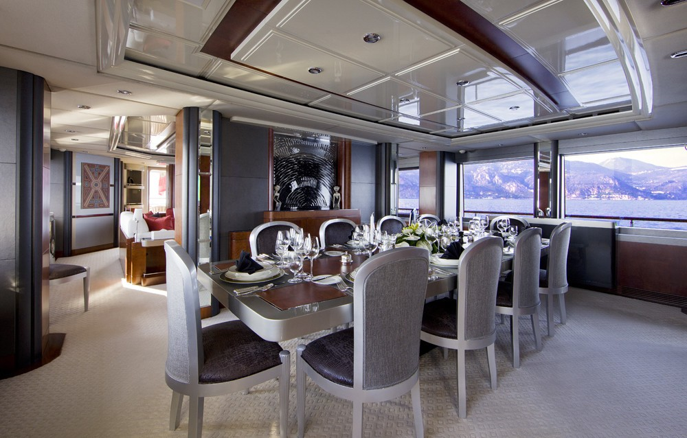 Eating/dining Saloon On Board Yacht SILVER DREAM