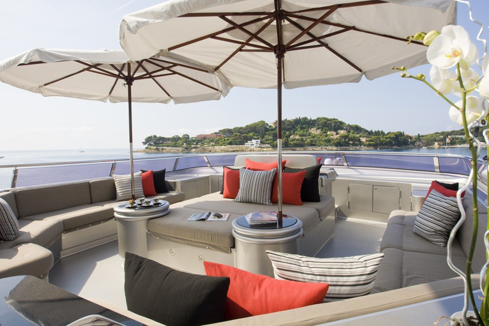 Sun Deck On Yacht SILVER DREAM