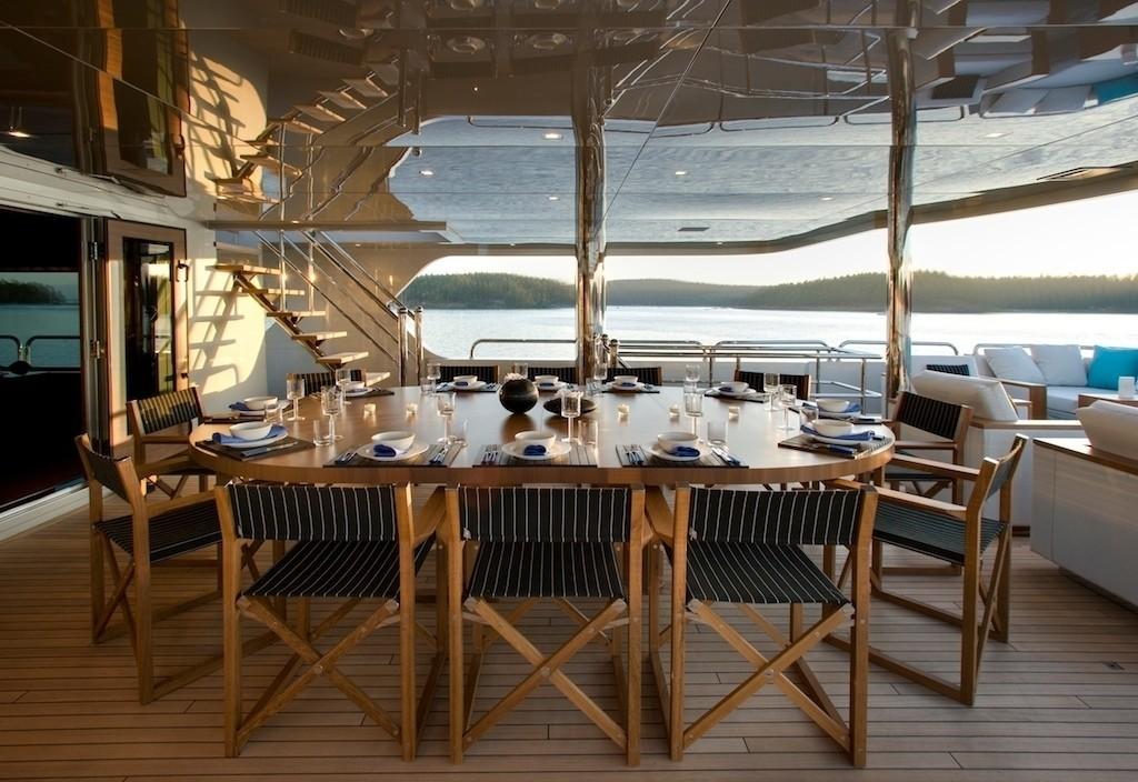 External Eating/dining Aboard Yacht ODESSA