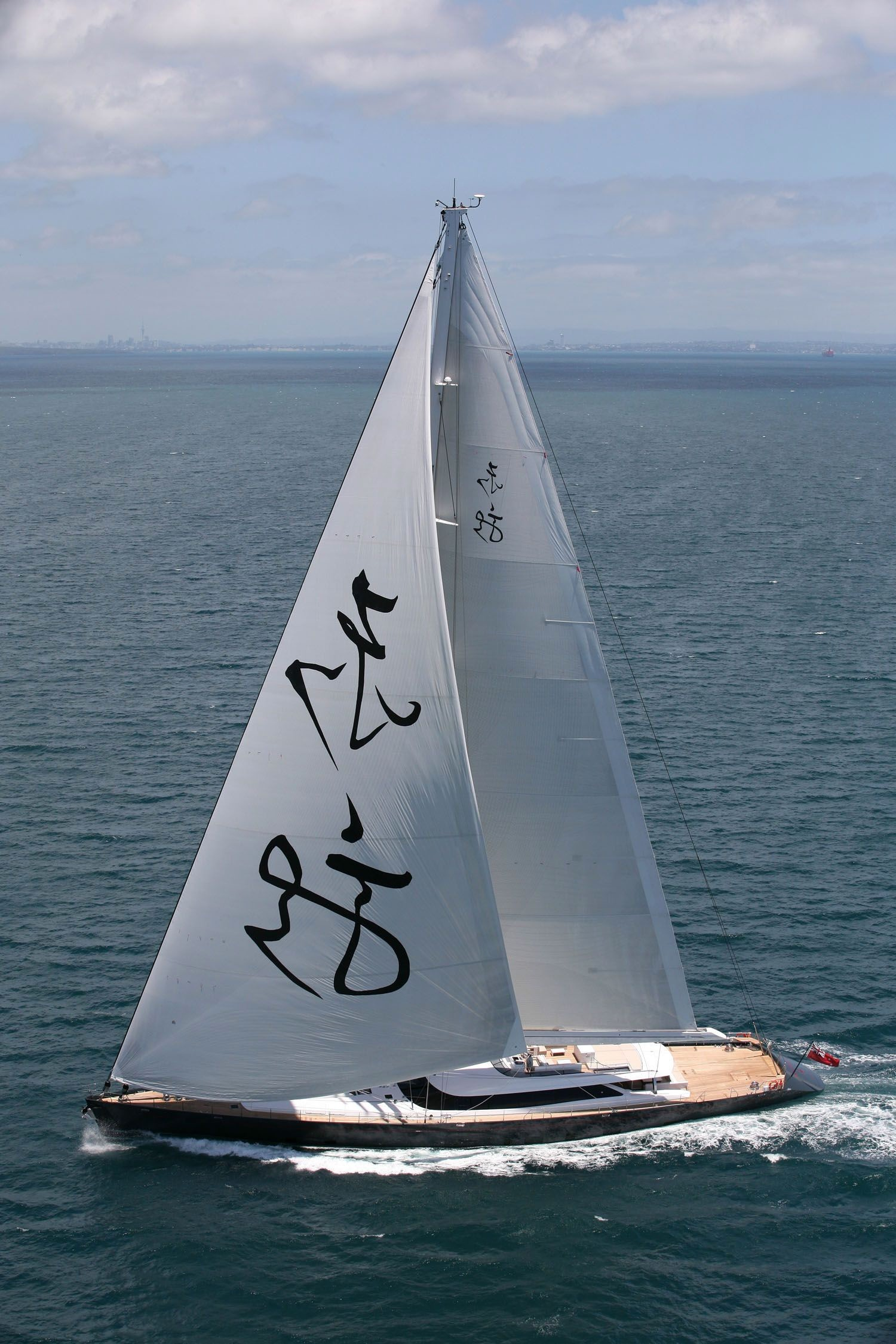 Sailing On Board Yacht Red Dragon