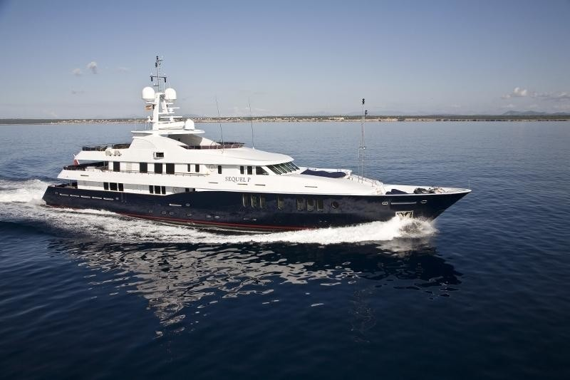 profile of the superyacht