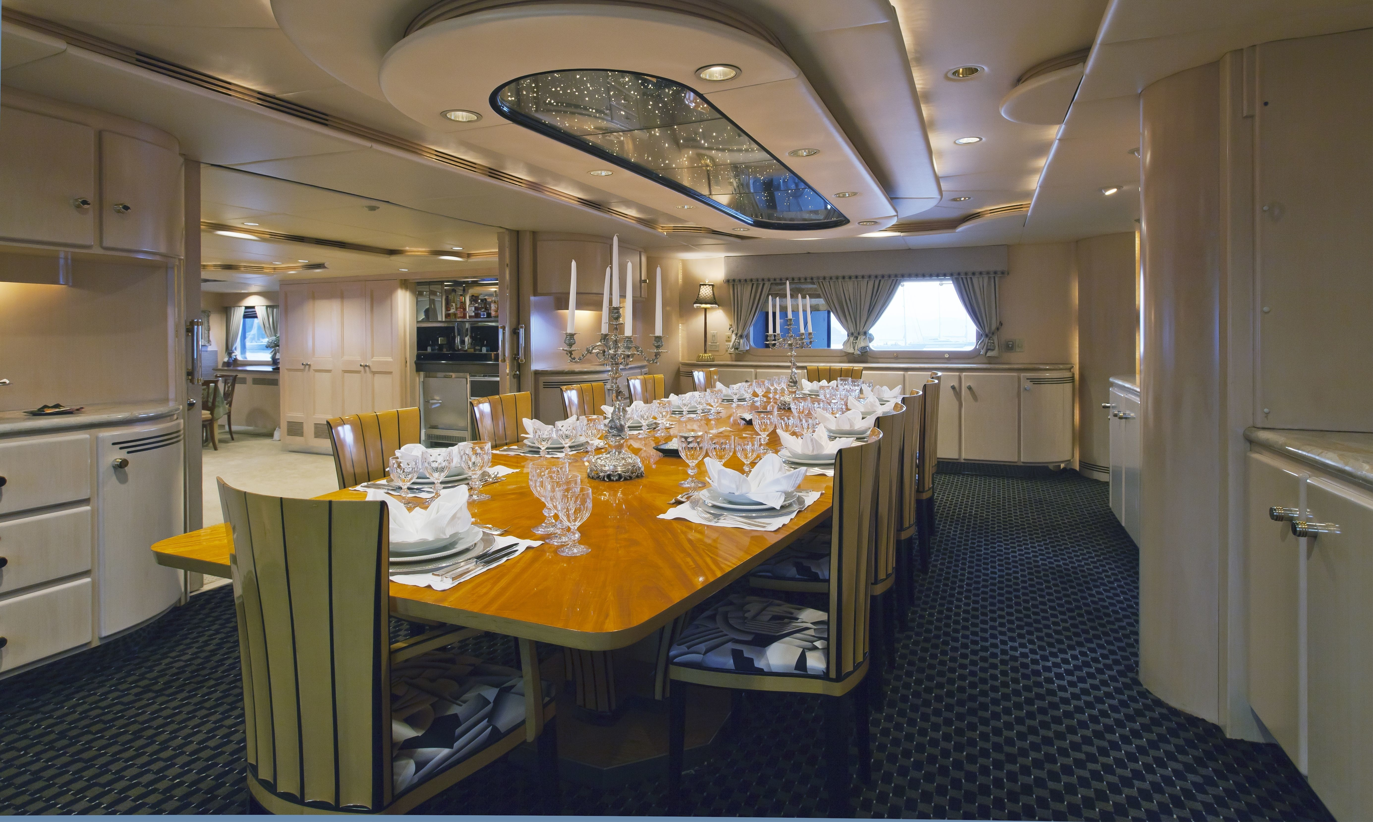 Inside Eating/dining On Board Yacht FAM