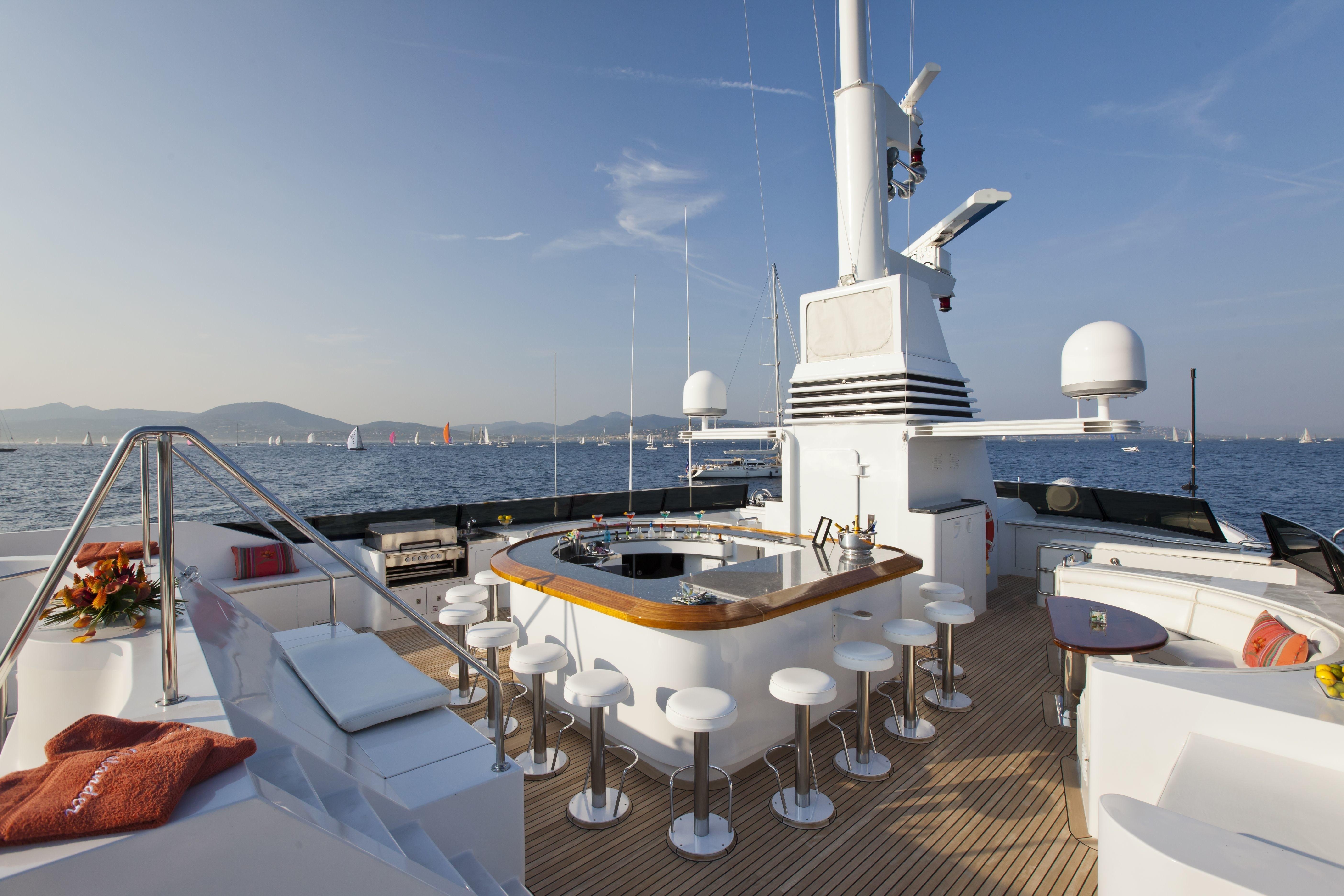 Sun Deck: Yacht FAM's External Drinks Bar Pictured