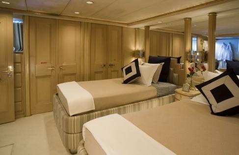 Twin Bed Cabin On Board Yacht FAM