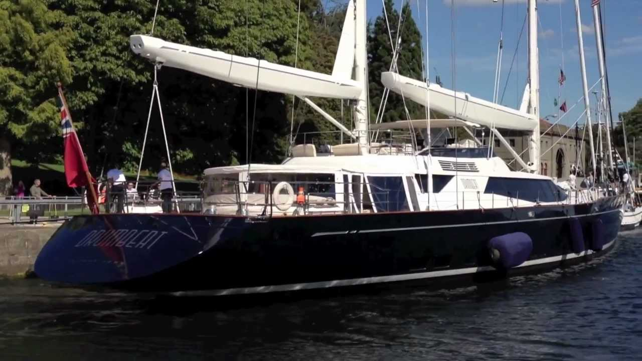 Superyacht Drumbeat At The Ballard Locks - Seattle, WA