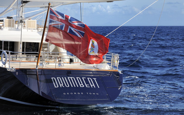 Yacht DRUMBEAT - Alloy Yachts - Transom