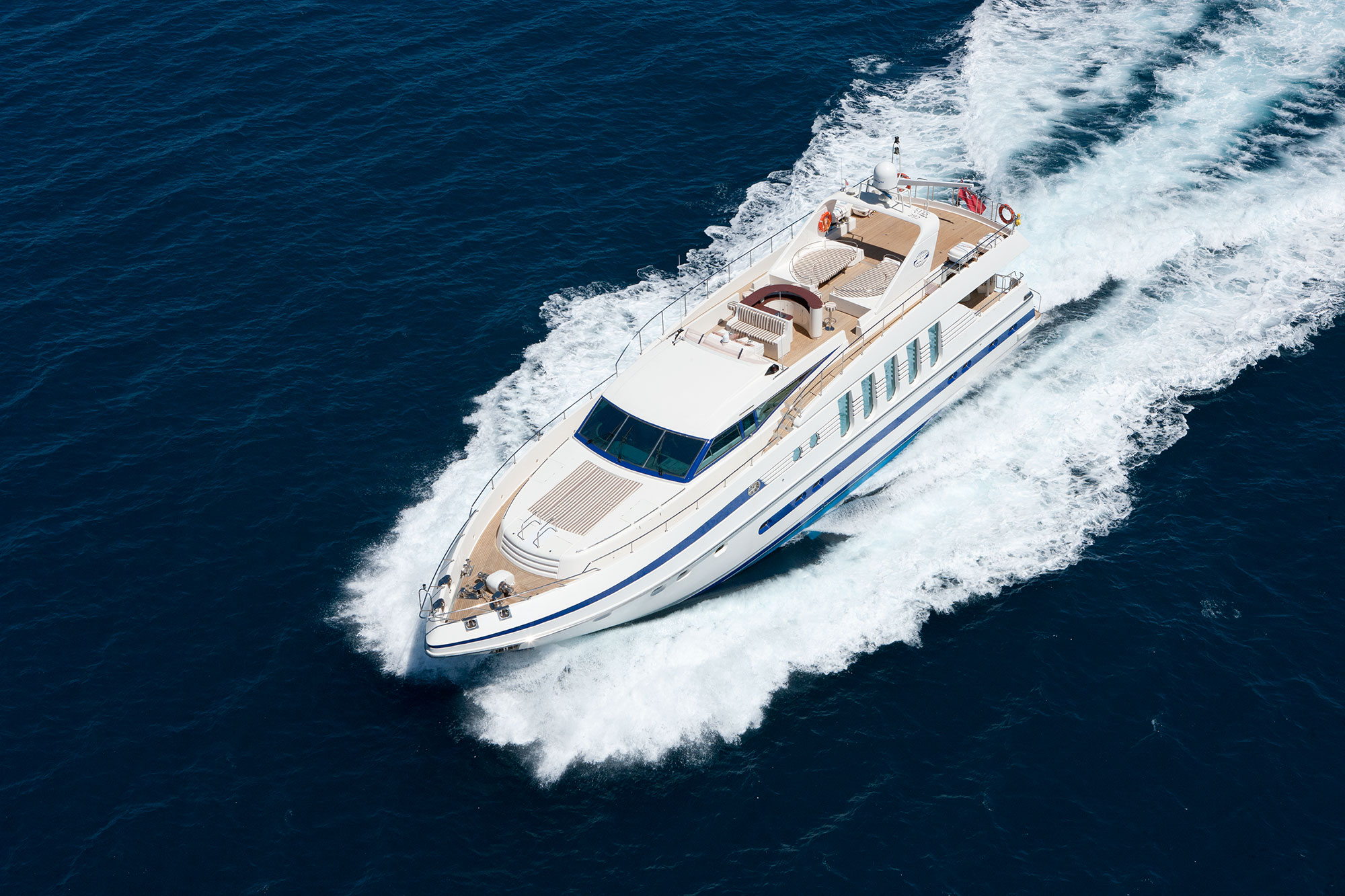 Yacht SUPERTOY - From Above
