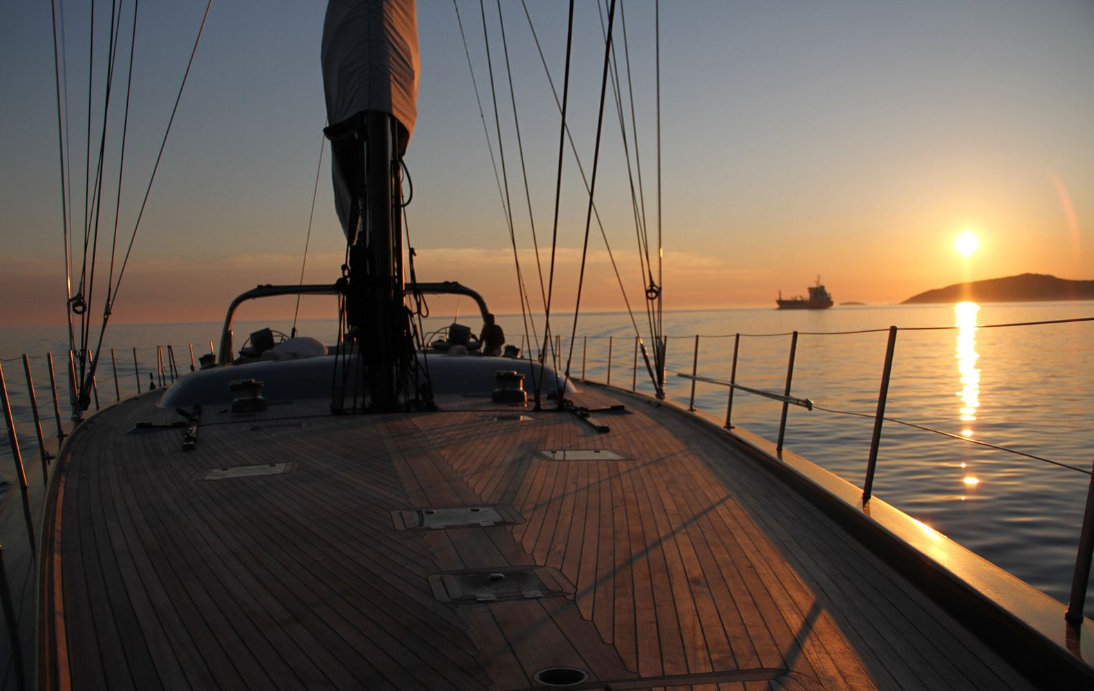 Yacht Wally B Foredeck