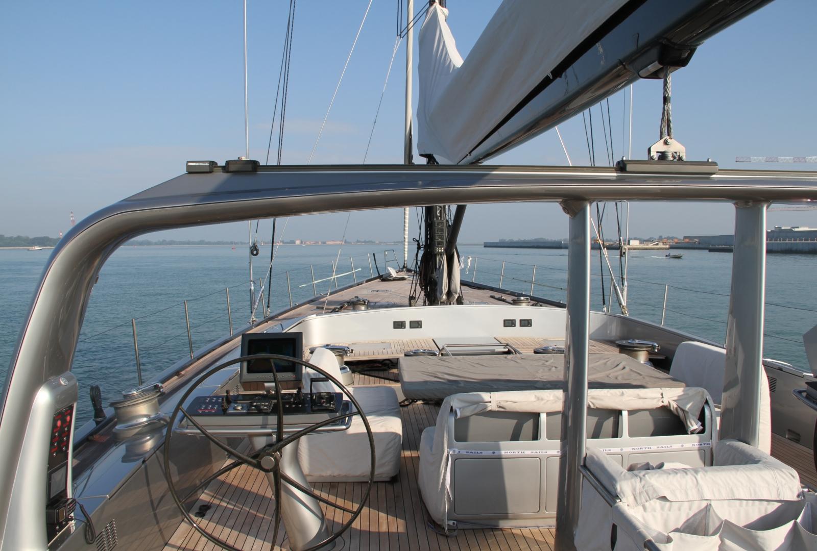 Yacht Wally B Foredeck