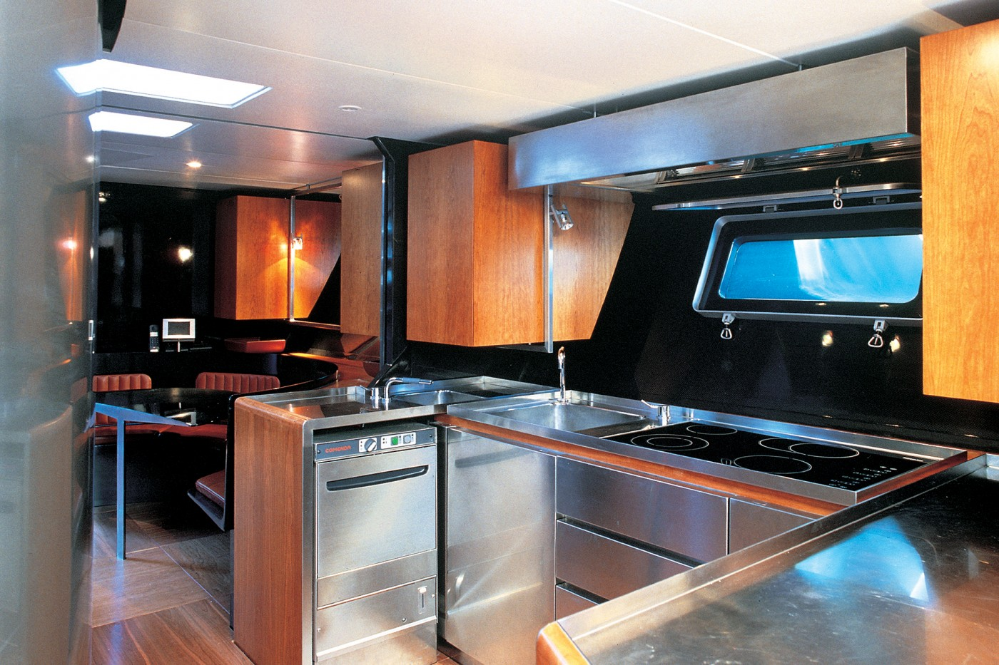 Yacht Wally B Galley