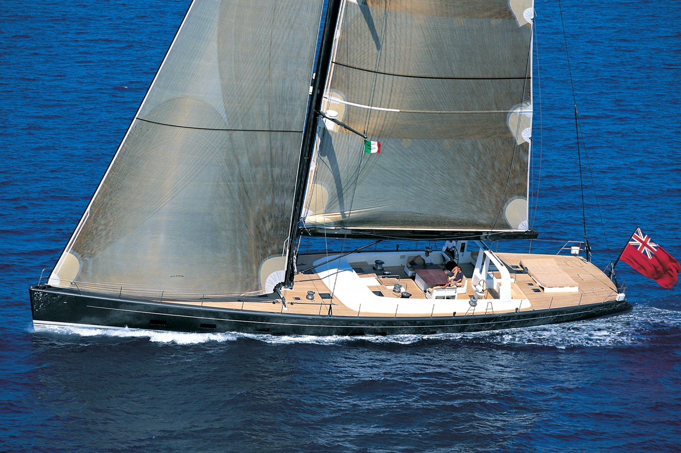 Yacht Wally B Sailing