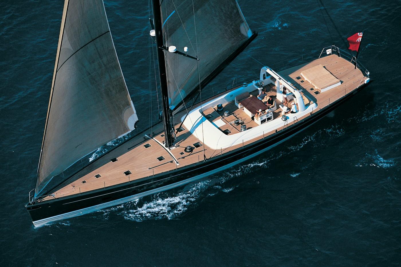 Yacht Wally B Sailing