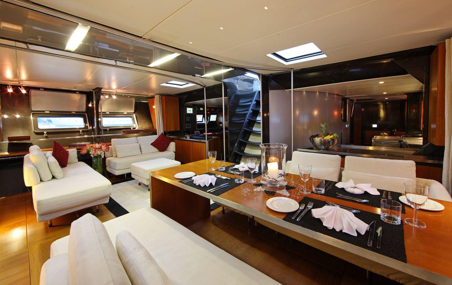 Yacht Wally B Salon
