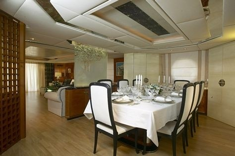 Eating/dining Saloon On Board Yacht AMZ