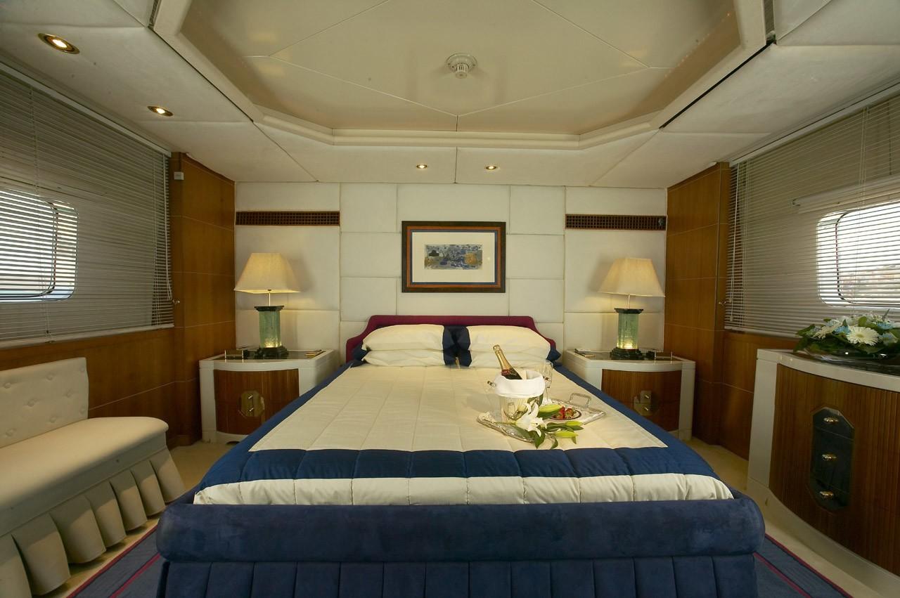 Main Master Cabin Aboard Yacht AMZ