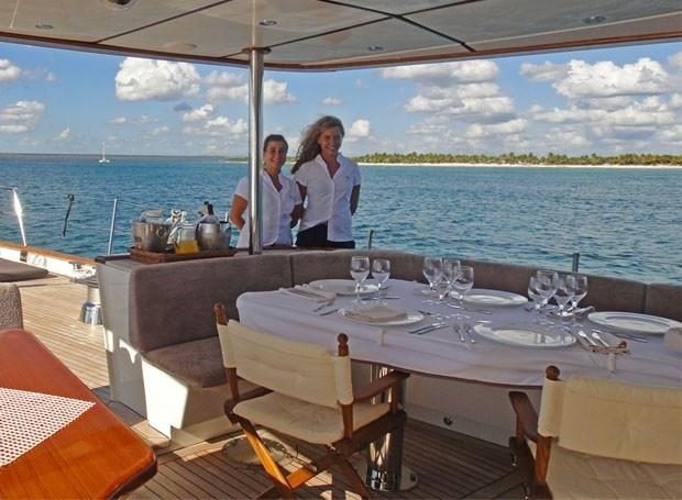 External Eating/dining On Yacht AIGLON