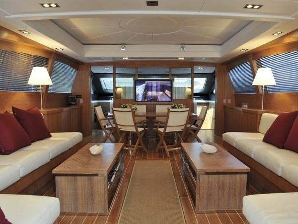 Inside Aboard Yacht SENSE