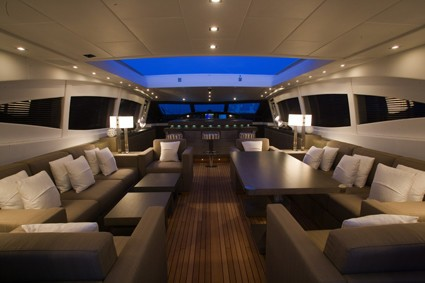 Inside On Yacht CRAZY TOO