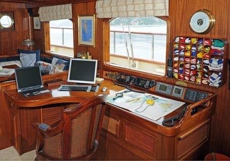 Helm Station On Yacht OFELIA
