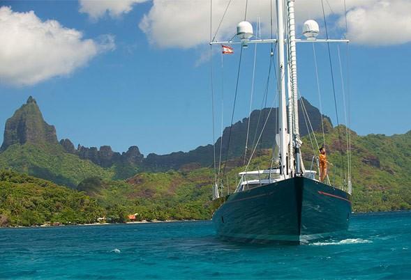 Forward Aspect Aboard Yacht BLISS