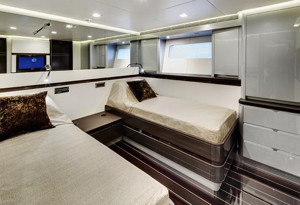 Twin Bed Cabin On Board Yacht BLISS