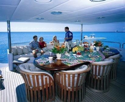 Aft Deck On Yacht SERENITY