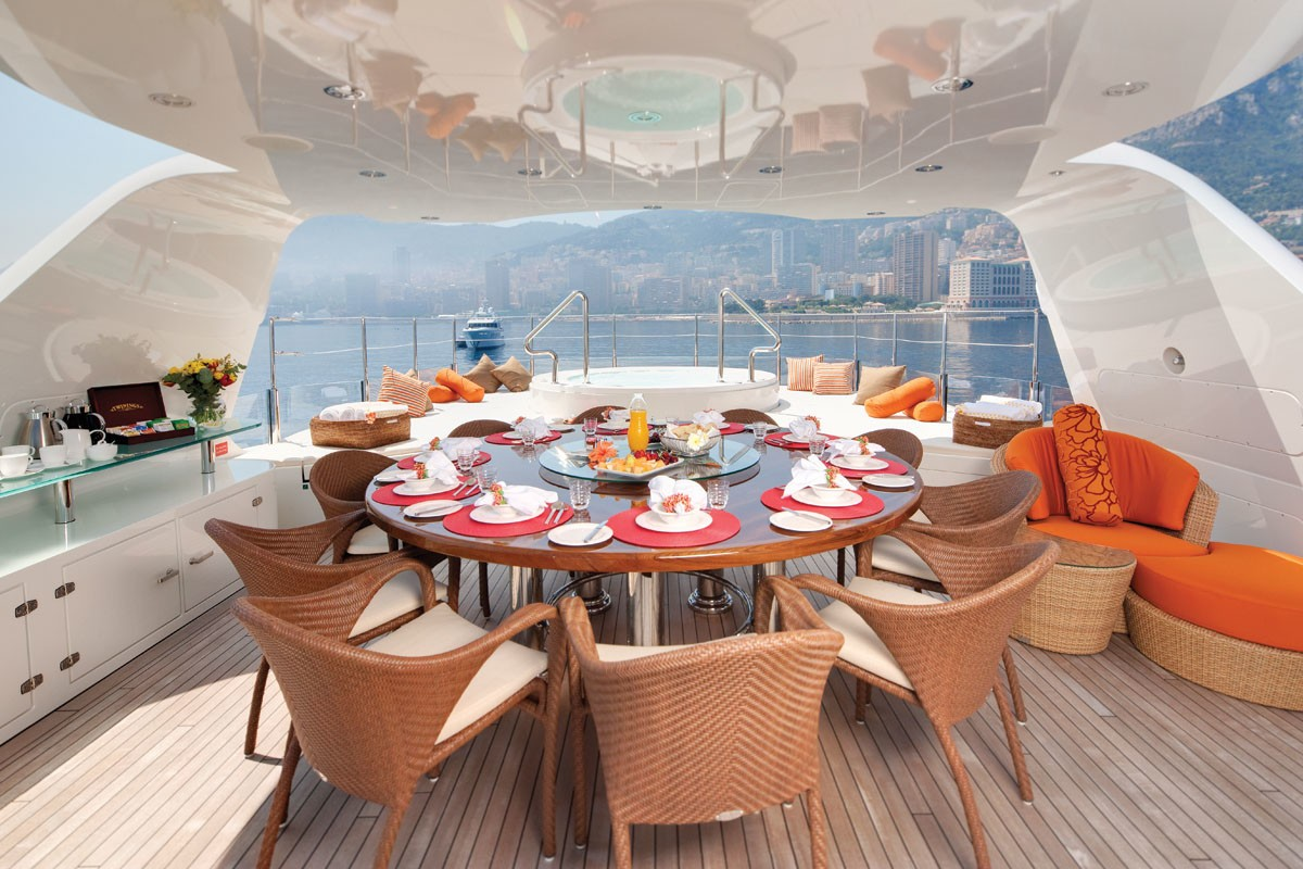 Outdoor Eating/dining Furniture On Yacht NORTHLANDER