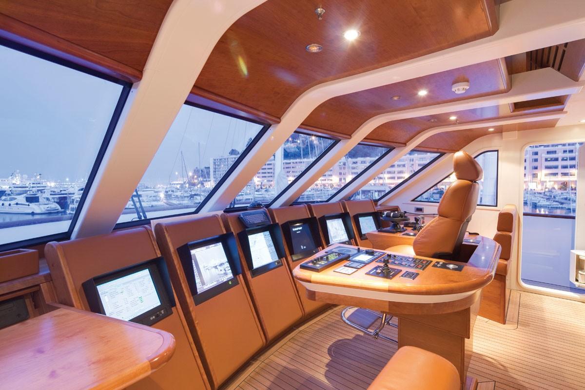 Pilot House Aboard Yacht NORTHLANDER