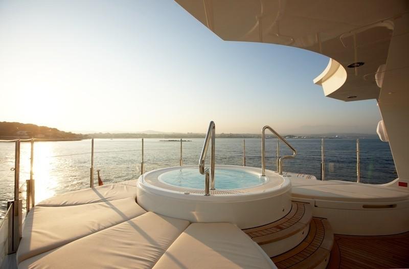 Sunset Dusk: Yacht NORTHLANDER's Jacuzzi Pool Photograph