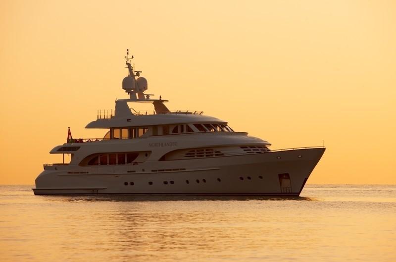 Sunset Dusk Overview Aboard Yacht NORTHLANDER