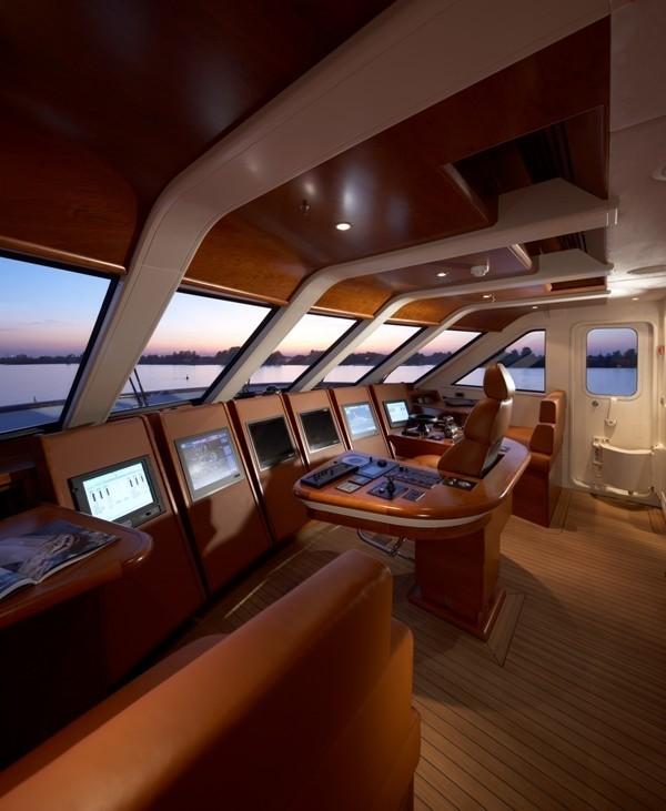 Pilot House On Board Yacht NORTHLANDER