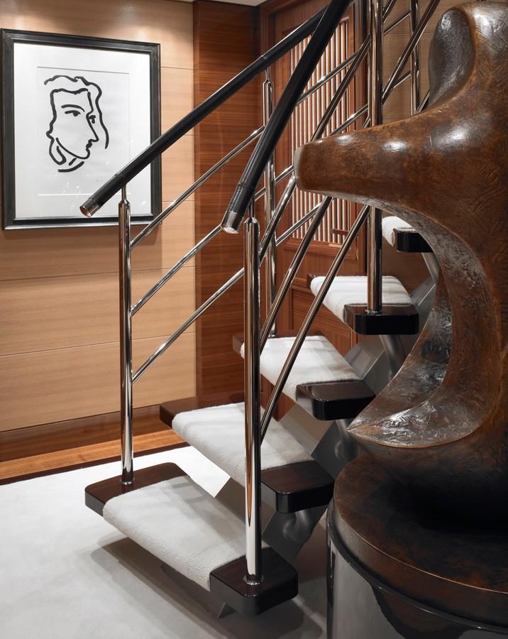 Stairway Aboard Yacht KATHLEEN ANNE