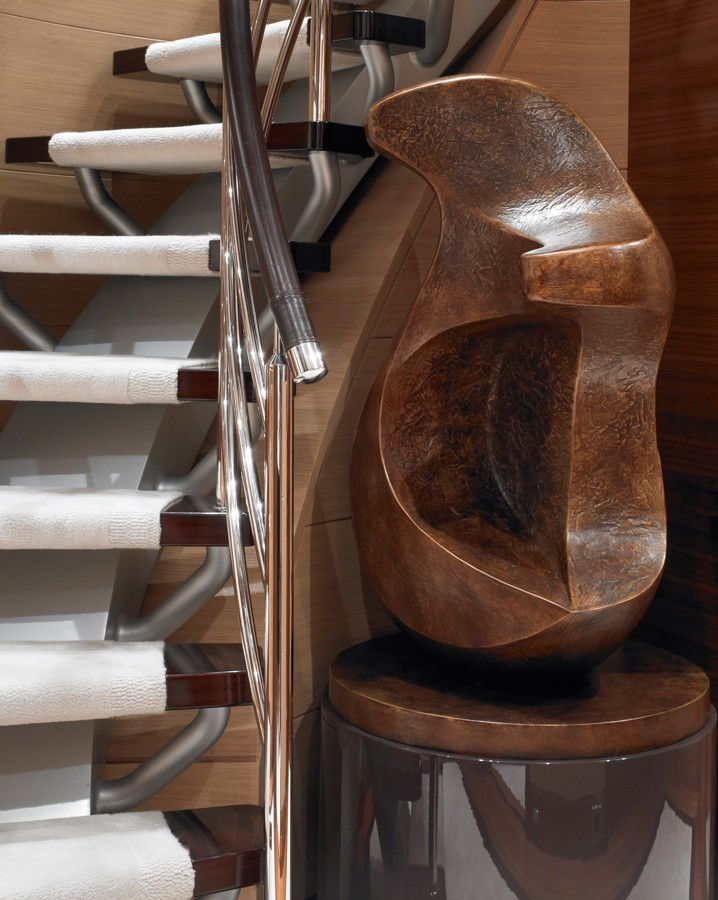 Close Up: Yacht KATHLEEN ANNE's Staircase Pictured