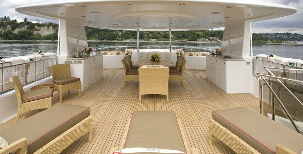 Sun Deck On Yacht MILK MONEY